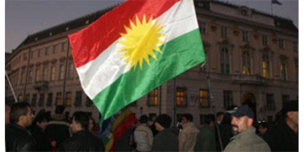 Kurden-Demo gegen Türkei-Einmarsch im Irak