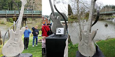 Denkmal für Kurt Cobain in Heimatstadt