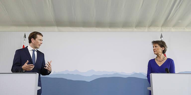 Kurz in der Schweiz: Grenzen offen