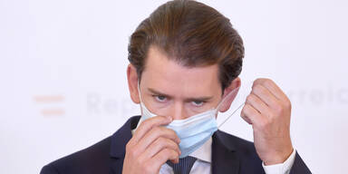 Bundeskanzler Sebastian Kurz mit Maske