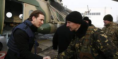 """Kurz auf """"Frontbesuch"""" in der Ostukraine"""