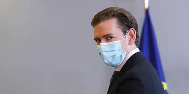 bundeskanzler kurz mit maske