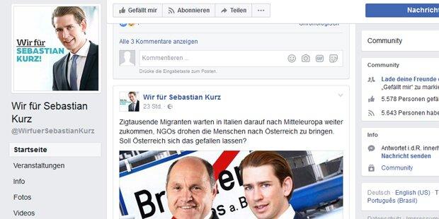 ÖVP will Kurz-Fan-Seite löschen lassen