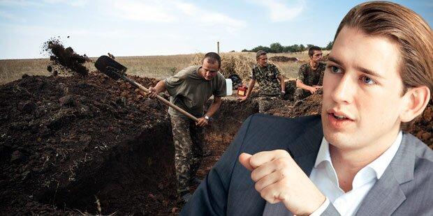 Kurz lehnt Kiews Mauer-Pläne ab