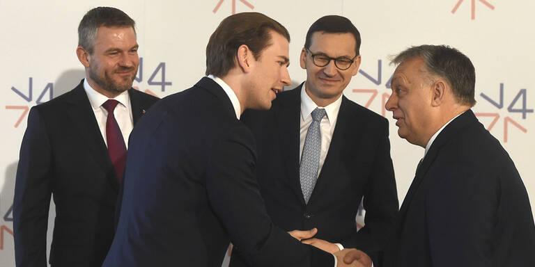 Visegrád-Gipfel mit Kurz in Prag begonnen