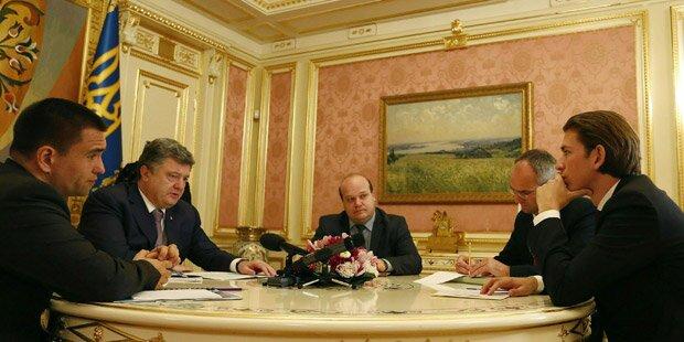 Kurz traf Poroschenko in der Ukraine