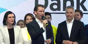 EU-Wahl: Kurz-Rede nach Erdrutschsieg