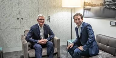 Kurz traf Tim Cook: Apple schafft 300 Jobs in Österreich
