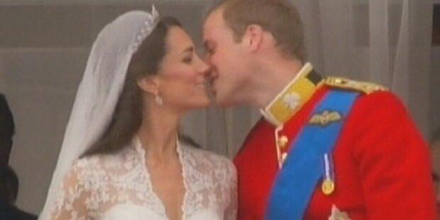So schön war der Hochzeits-Kuss