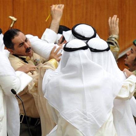 Kuwait, Prügelei