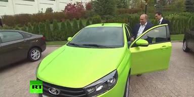 Putin bei Autotest zu schnell unterwegs