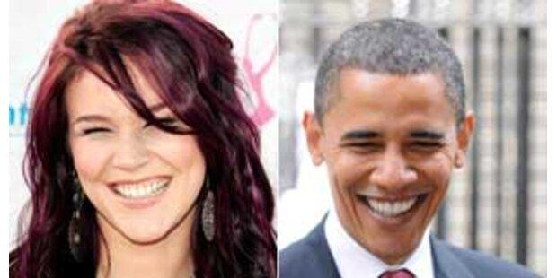 Barack Obama will mit Joss Stone zum Sieg