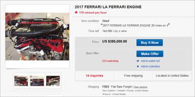 Verrückt: Neuer LaFerrari-Motor auf eBay