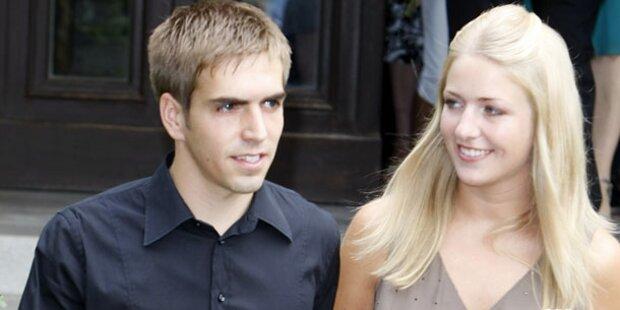 Philipp & Claudia Lahm werden Eltern