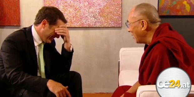Lachattacke bei Dalai Lama - Interview