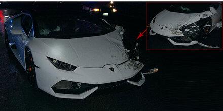 23-Jähriger schrottet gemieteten 610-PS-Lambo