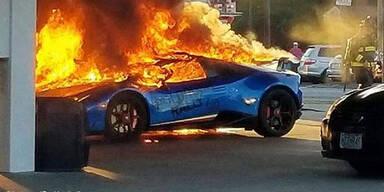 Seltener Top-Lambo ging in Flammen auf