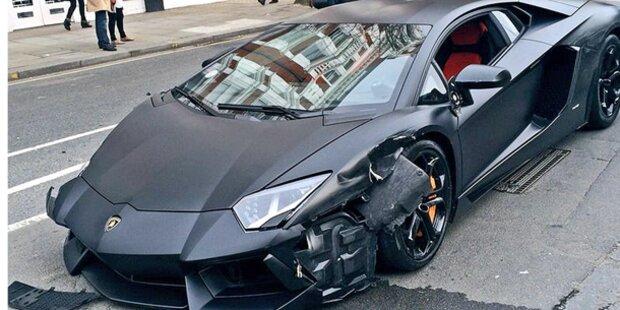 Sundteuren Lamborghini Aventador Geschrottet