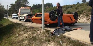 Horror-Crash mit limitiertem Lamborghini
