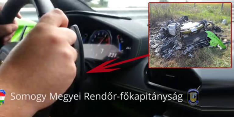 Horror-Crash mit über 300 km/h