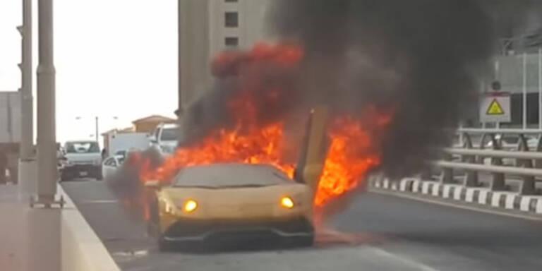700-PS-Lambo geht in Flammen auf