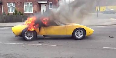 Sündteurer Lamborghini geht in Flammen auf