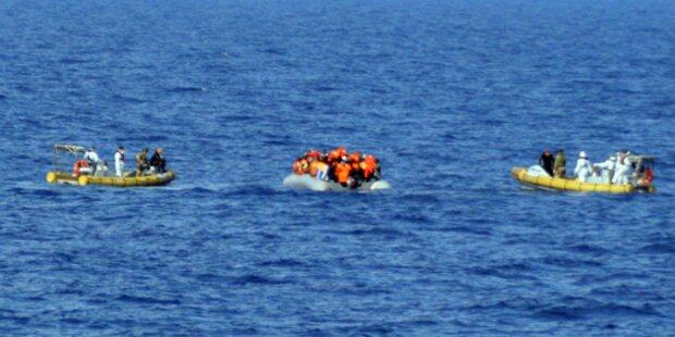 Mittelmeer: Marine rettet 600 Flüchtlinge
