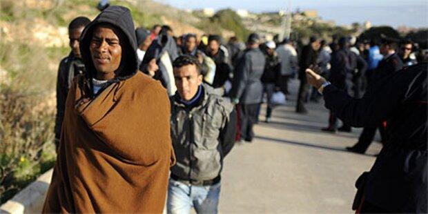 Lampedusa: Einwohner gegen Flüchtlinge