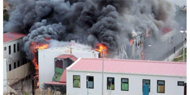 Tumulte im Flüchtlingslager auf Lampedusa