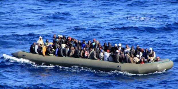 Flüchtlingsboot vor Lampedusa gekentert
