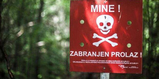 Landminen-Gefahr völlig unterschätzt