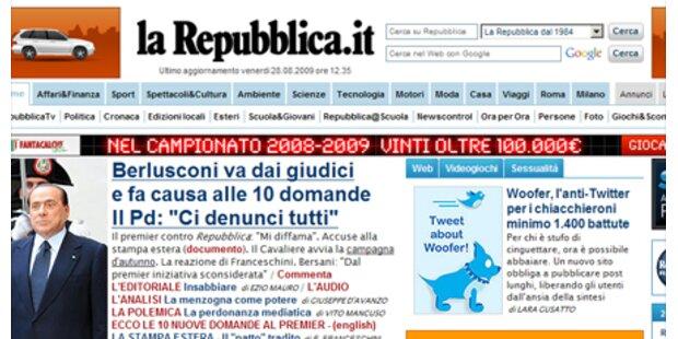 Das sind die 10 Fragen an Berlusconi