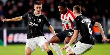 0:0 - LASK erobert Remis bei Eindhoven