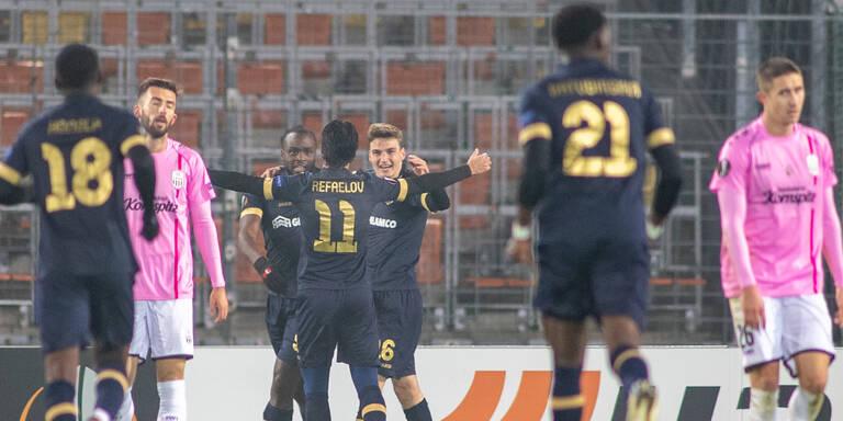 0:2 - LASK verliert Gipfeltreffen gegen Antwerpen