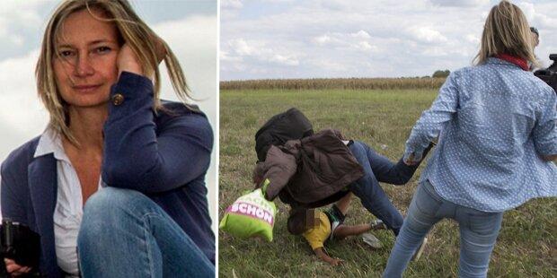 Das ist die irre Flüchtlings-Treterin