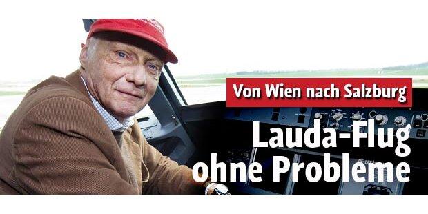 Lauda fliegt ohne Probleme nach Salzburg