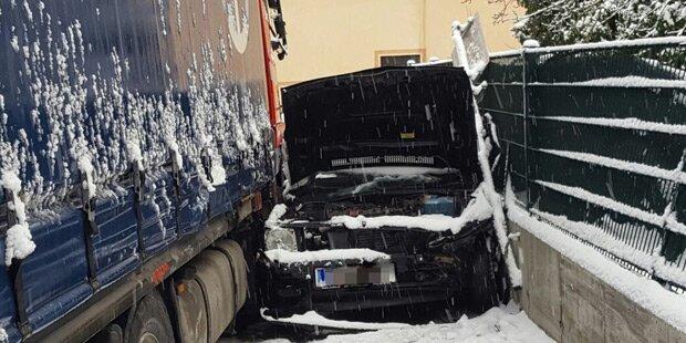 Lkw zog Spur der Verwüstung in Kärnten