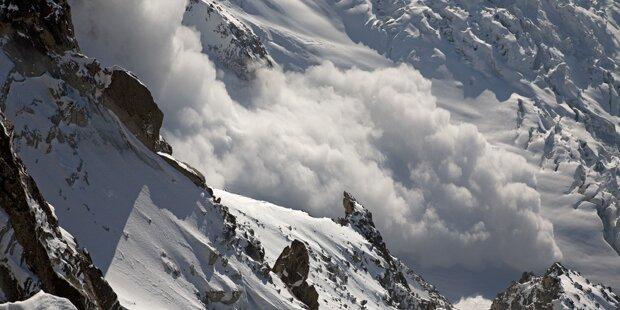 Lawine riss Skifahrer 120 Meter weit mit