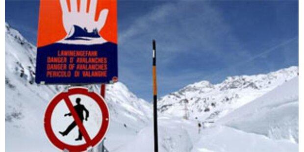 Große Lawinengefahr in Vorarlberg
