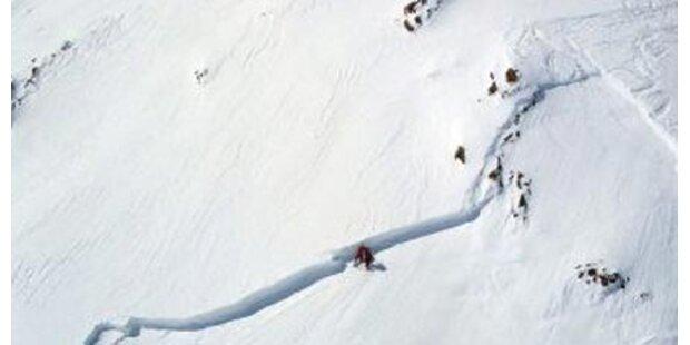 Lawinenabgänge am Mölltaler Gletscher
