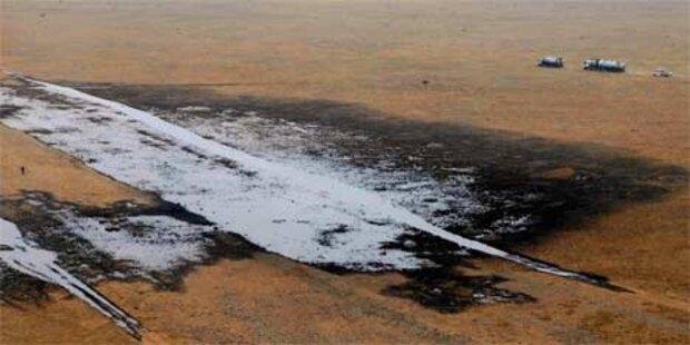 Leck in Ölpipeline führt zu Öko-Desaster
