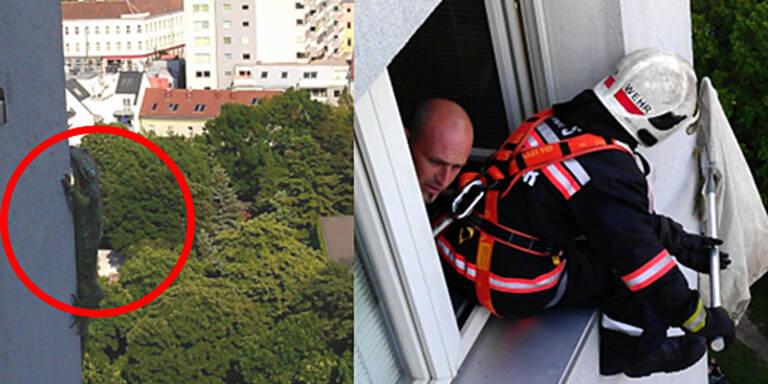 Feuerwehr rettet Leguan aus 16. Stock