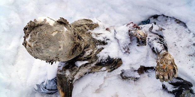 Mummifizierte Leichen auf Vulkan gefunden