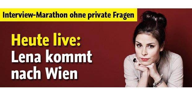 Lena heute zum ersten Mal in Wien