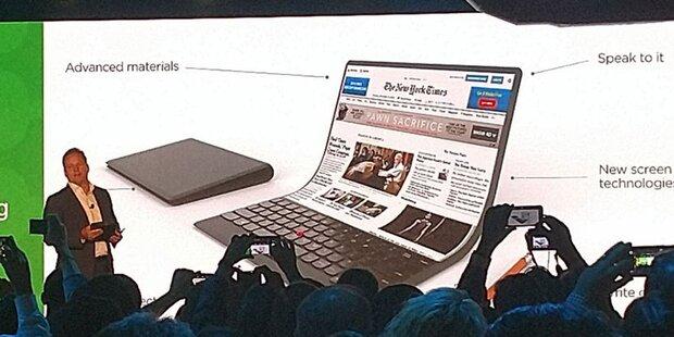 Lenovo zeigt faltbares Notebook