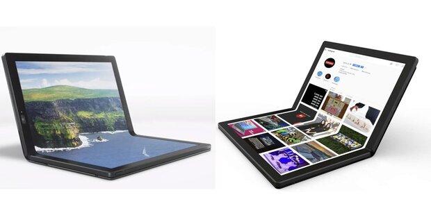 Erstes Notebook mit faltbarem Display