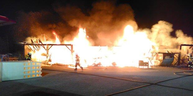 Leoben: Großbrand bei Pool-Firma