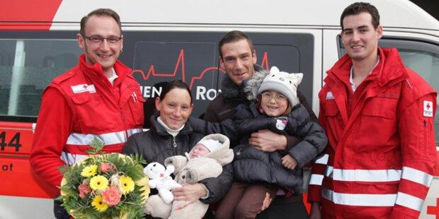 Leon kam im Krankenwagen zur Welt