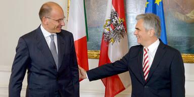 Italiens Premier Letta zu Besuch bei Faymann