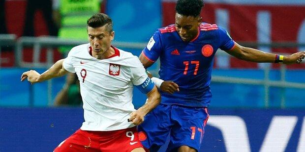 Polen nach 0:3 gegen Kolumbien k.o.